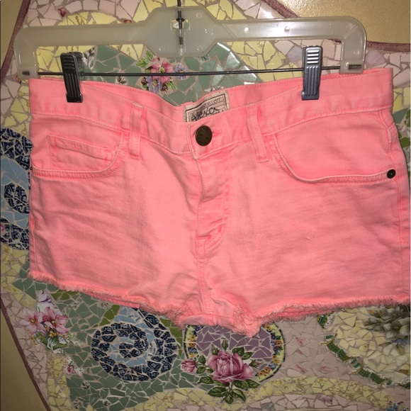 Current/Elliott Pants - Neon Orange Shorts